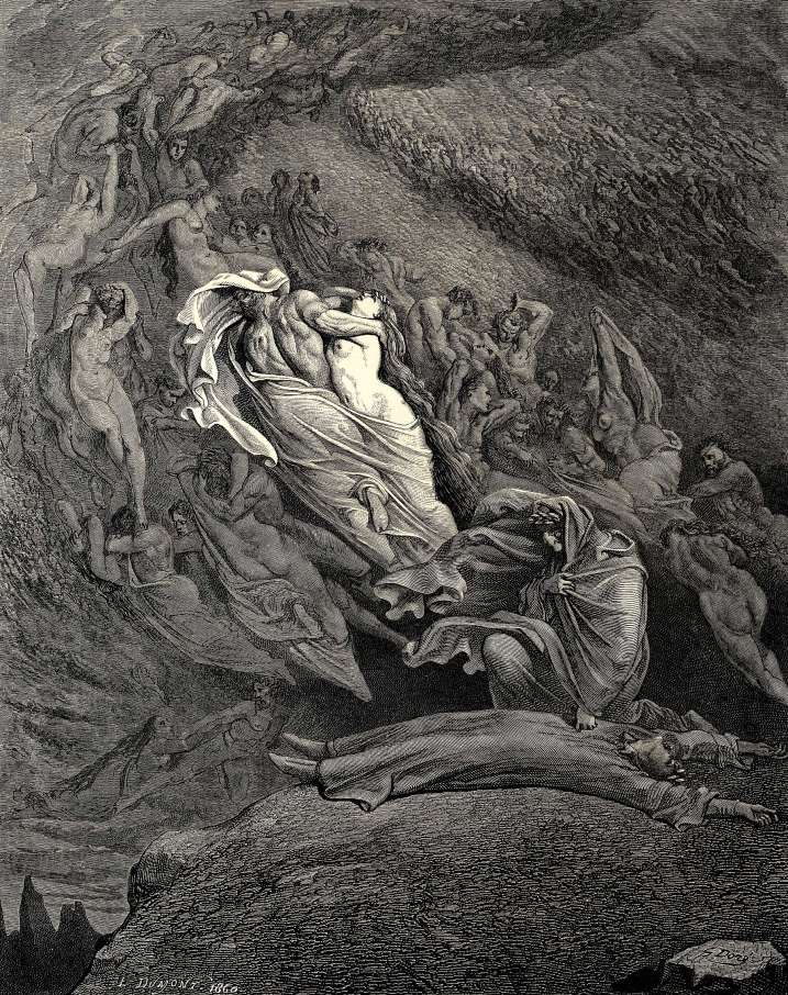 Gustave Dore, The Inferno Canto 5