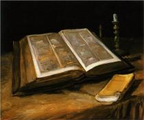 Still Life with Bible Van Gogh