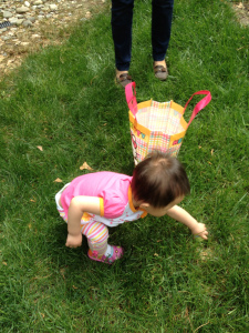 Her first egg hunt