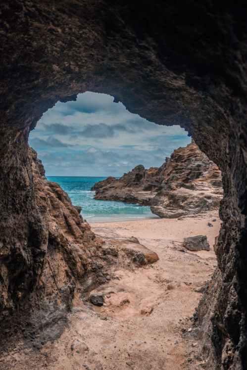cave near sea